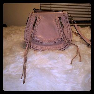 Pink leather Rebecca Minkoff saddle purse